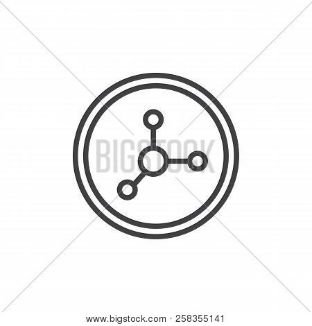 Nitrate Food Outline Icon. Linear Style Sign For Mobile Concept And Web Design. Chemical Molecule Li