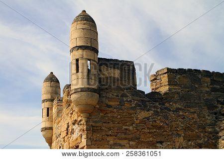 Russia, Crimea, Kerch - May 27, 2018: Ruins Of Kerch Fortress. Architecture Image. Illustrative Edit