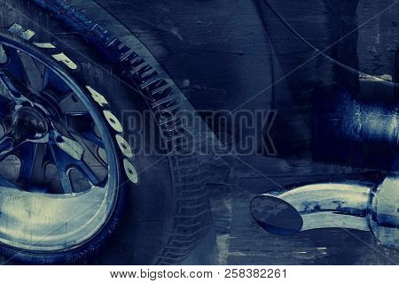 Impression Of A Sports Car In Details
