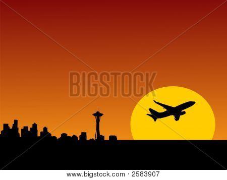 Plane Leaving Seattle