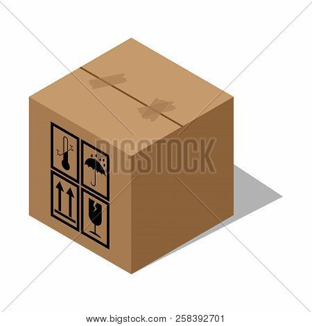 Box Icon. Vector Of Packing Boxes. Cardboard Box, Parcel.