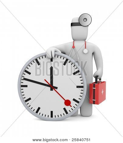 Time to medical services. Image contain clipping path