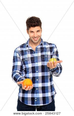 Man Holding Orange And Lemon