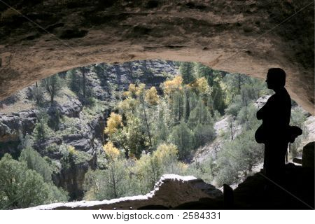 One Person In Cave Dwellking