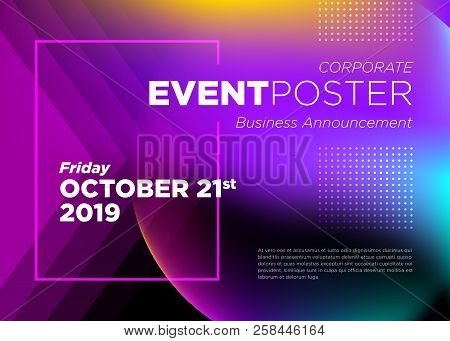 Abstract Vector Dynamic Background. Futuristic Poster For Corporate Meeting, Online Courses, Master