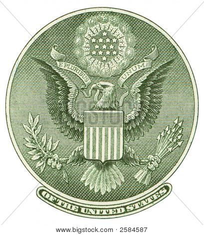 Great Seal Of United States Cutout. Reverse Side
