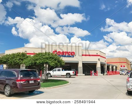 Exterior Entrance Of Costco Wholesale Store From Parking Lots