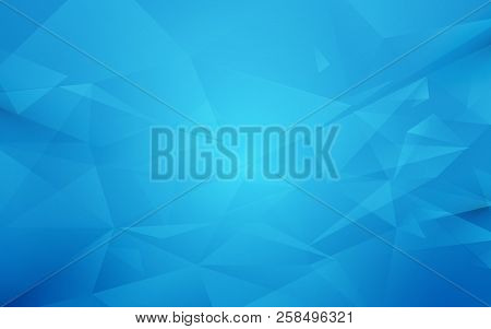 Abstract Blue Polygon Geometric Background. Illustration Vector