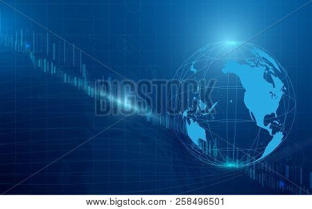 Digital Stock Market Financial With Business Background