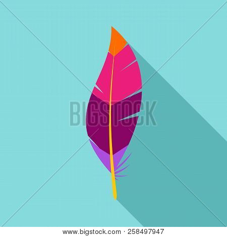 Abstract Feather Icon. Flat Illustration Of Abstract Feather Vector Icon For Web Design