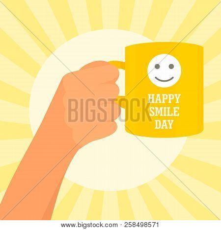 Sunny Smile Day Concept Background. Flat Illustration Of Sunny Smile Day Vector Concept Background F