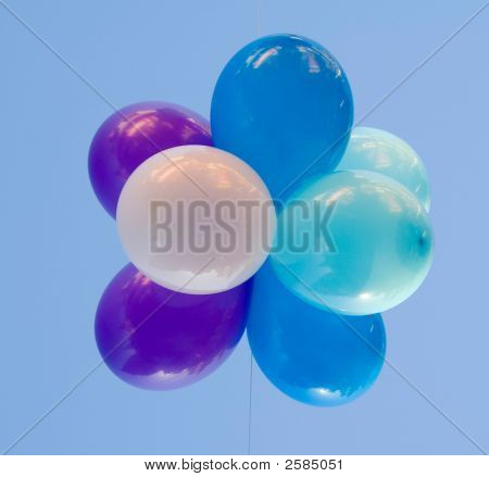 Many Balloons Bn The Clear Blue Sky