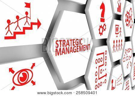 Strategic Management Concept Cell Background 3d Illustration