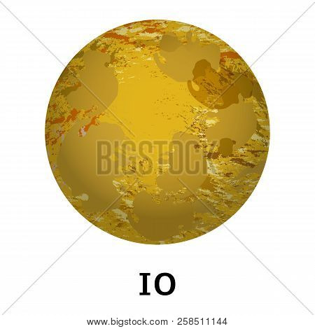 Io Planet Icon. Realistic Illustration Of Io Planet Vector Icon For Web Design Isolated On White Bac