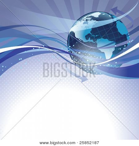 Abstract vector background. Deep Space