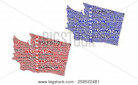 Sketch Washington (state) (united States Of America) Letter Text Map, Washington (state) Map - In Th