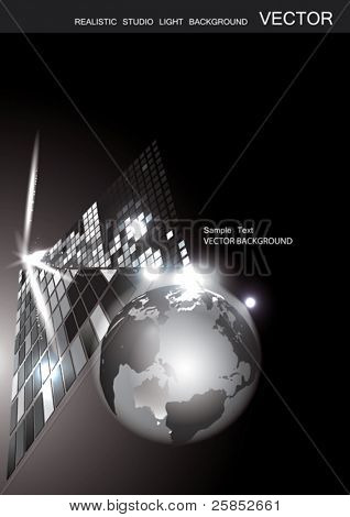 Vector Background with Globe