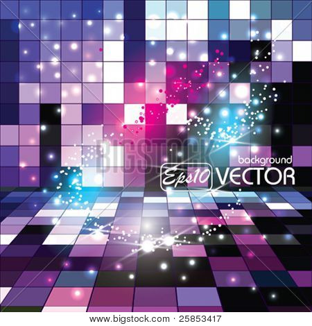 Vector Glowing Background Nice Sparkles poster