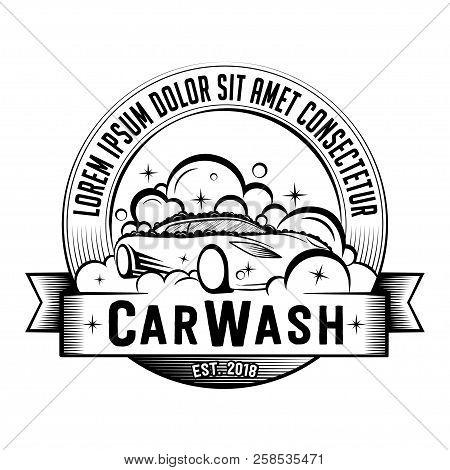 Car Wash Logo. Vector And Illustration. T-shirt Design.