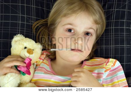 Child Ill In Bed