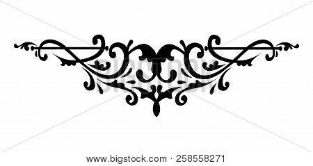 Filigree Swirly Ornaments. Victorian Ornamental Swirls And Simple Lines Scrolls. Ornamental Caligrap