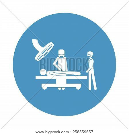 Patient In The Operating Room Icon In Badge Style. One Of Hospital Collection Icon Can Be Used For U