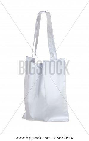 small white cotton bag