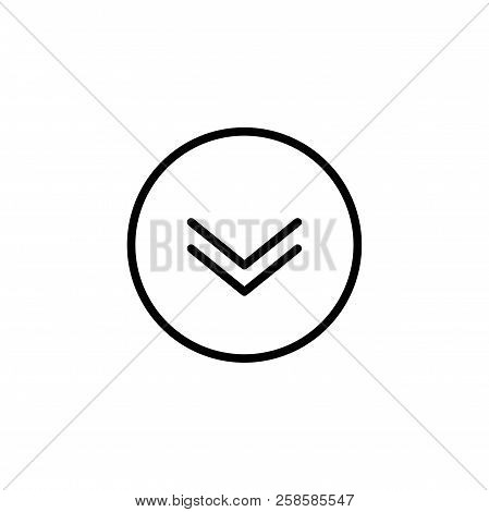 Scroll Down Icon. Vector Scrolling Mouse Sybmol For Web Design Isolated On Transparent Background. T