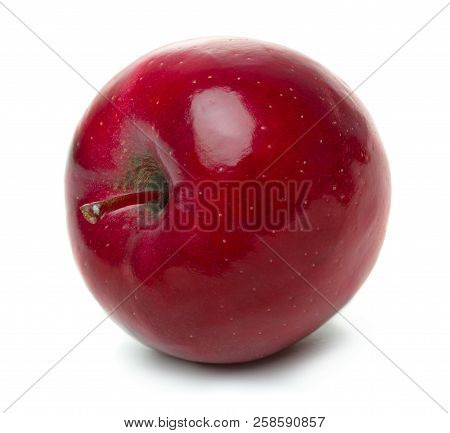 Red Apple Fruit Isolated On White Background