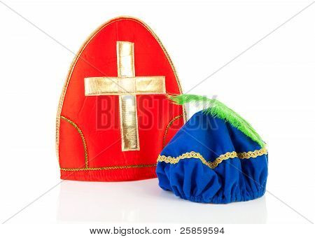Mitre Of Sinterklaas And Hat Of Black Pete