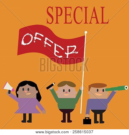 Conceptual Hand Writing Showing Special Offer. Business Photo Text Selling At A Lower Or Discounted