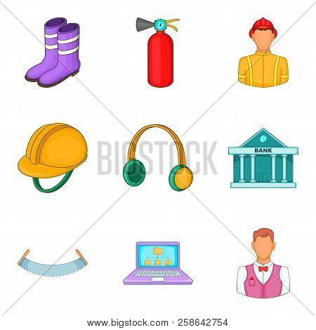 Operating Procedure Icons Set. Cartoon Set Of 9 Operating Procedure Icons For Web Isolated On White