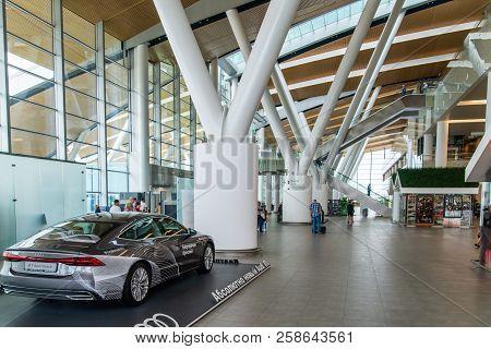 Rostov-on-don, Russia - September 11, 2018: Audi A7 Sportback Car In International Airport Platov. I