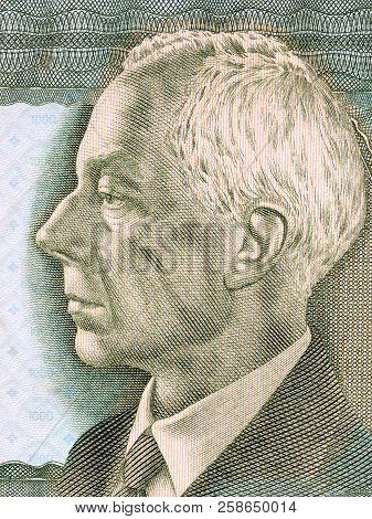 Bela Bartok Portrait From Hungarian Money - Forint