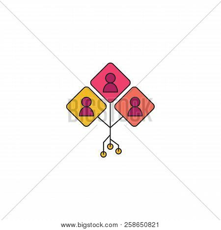 Multi Agent System Icon. Cartoon Multi Agent System Vector Icon For Web Design Isolated On White Bac