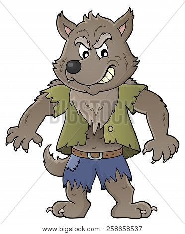 Werewolf Topic Image 1 - Eps10 Vector Picture Illustration.