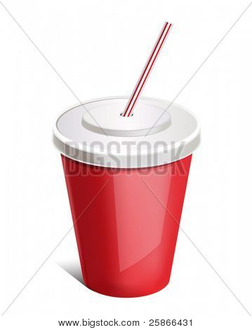 vector illustration of cup soda