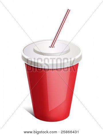 vector illustration of cup soda