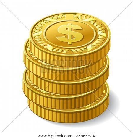 vector illustration of coins