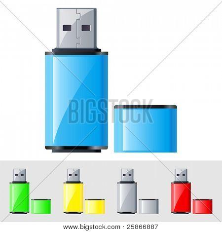 vector illustration of USB Flash Drive