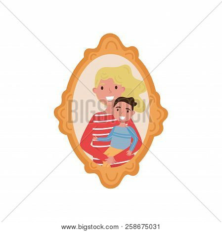 Portrait Mother Son Vector Photo Free Trial Bigstock