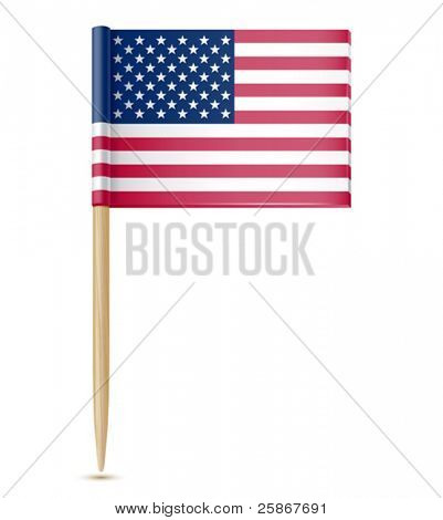 vector illustration of American flag toothpick