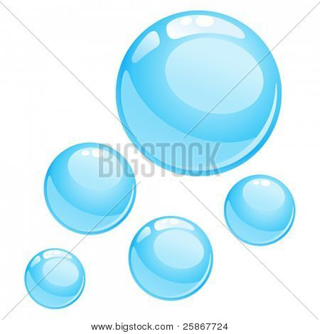 water bubbles illustration
