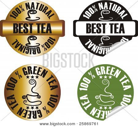 Vector Tea Stamp Set