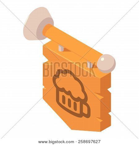 Beer Bar Welcome Board Icon. Isometric Of Beer Bar Welcome Board Icon For Web Design Isolated On Whi