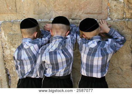 Jerusalem.The Western Wall.Pray.