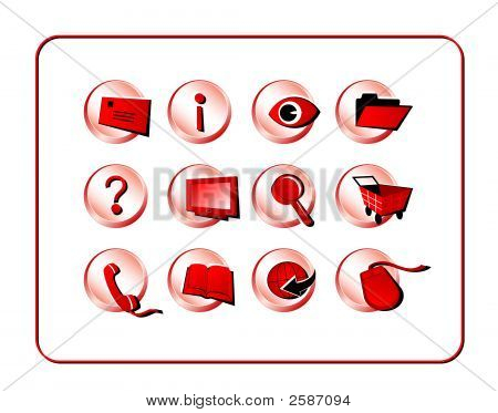 Icon Set Golden - Red