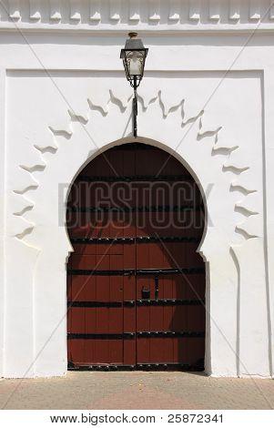 Marrakech Arabesque door - Koutubia Mosque