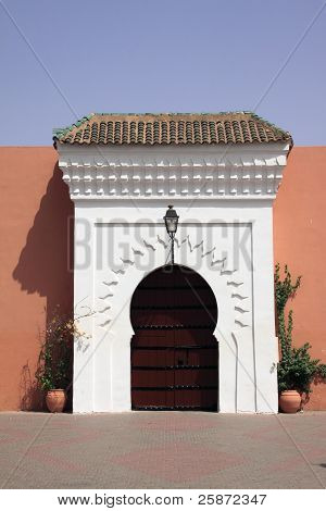Marrakech Arabesque door and surround - Koutubia Mosque