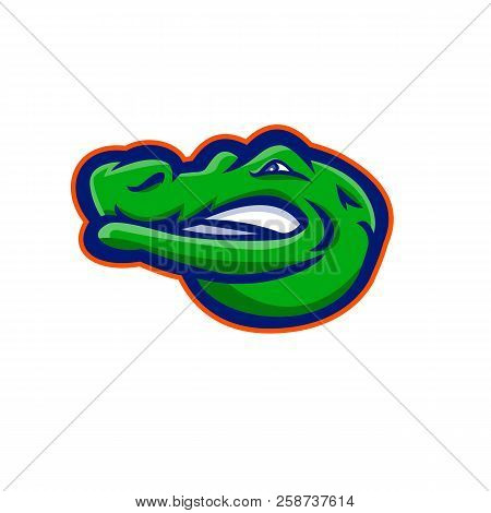 Mascot Icon Illustration Of Head Of An Alligator, Gator, Crocodile Or Croc Viewed And Looking From S
